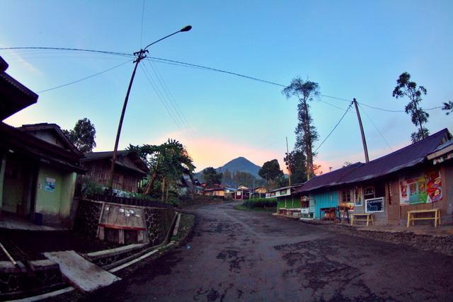 Gunung Kemulan sepertinya sudah keluar dari selimut halimun untuk menyambut pagi di Pagilaran (dok.pri)