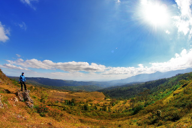 Gunung Mutis di saksikan dari kilo 12. Salah satu titik pengamatan yang strategis untuk menikmati pesona alam di Kabupaten Timor Tengah Selatan (dok.pri)