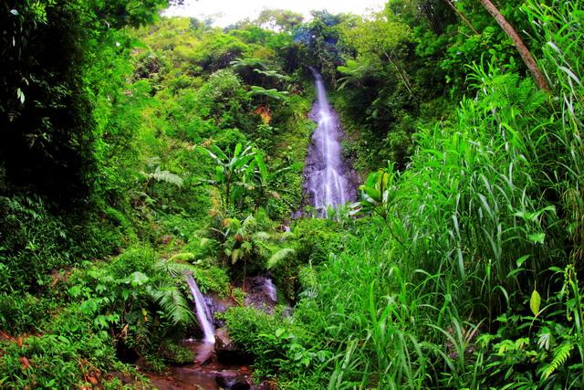 Air terjun Baladewa, sebuah tepat indah yang terlihat gundah karena tak ada yang menjamah (dok.pri).
