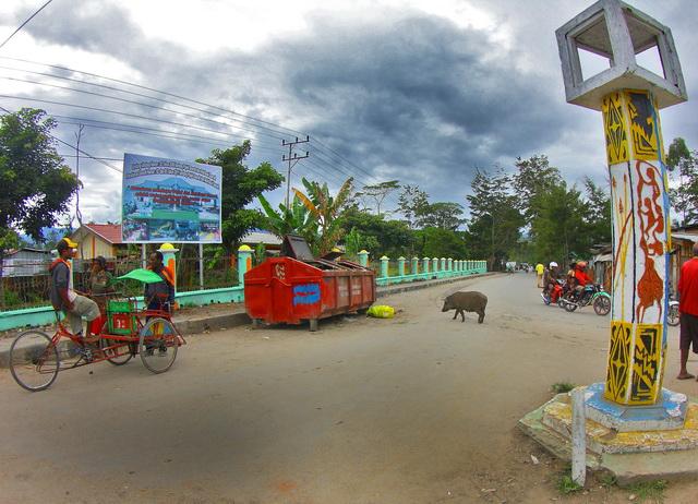 Becak di Wamena